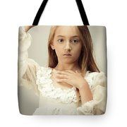 Young Girl Wearing A Crown Tote Bag