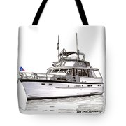 50 Foot Hatteras Motoryacht Tote Bag