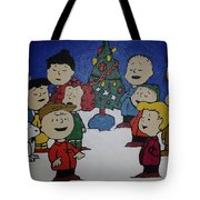 50 Years A Charlie Brown Christmas Acrylic Painting Tote Bag
