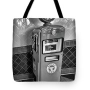 50's Gas Pump Bw Tote Bag