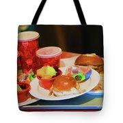 50's Style Food Malt Hamburger Tray  Tote Bag