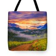 Art Landscape Tote Bag