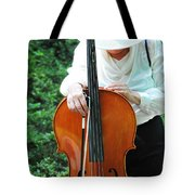 Female Cellist. Tote Bag
