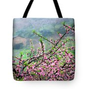 Blossoming Peach Flowers In Spring Tote Bag