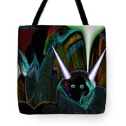 527   Little Alien Being A Tote Bag