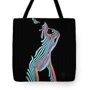 5291s-mak Nude Female Torso Rendered In Composition Style Tote Bag