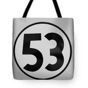 53 Herbie B W Tote Bag