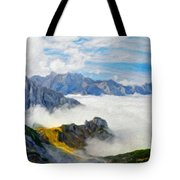 Nature Pictures Of Oil Paintings Landscape Tote Bag