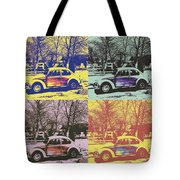 Old Beetle-pop Art Tote Bag