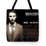 5499 Fight Club Hd S Black Tote Bag