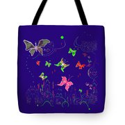 558   Butterflies  V Tote Bag