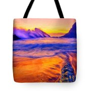 A Landscape Drawing Tote Bag