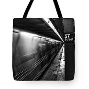 57th Street Platform Tote Bag by Barry C Donovan