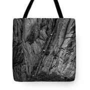 5840- Yellow Mountains Black And White Tote Bag