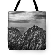 58462 Yellow Mountains Black And White Tote Bag