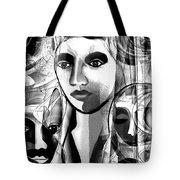 595 -  A Face A ... Tote Bag