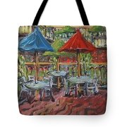5th  Street Market Tables Tote Bag