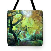 6 Abstract Japanese Maple Tree Tote Bag