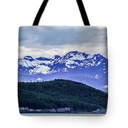 Alaska Nature And Mountain In June At Sunset Tote Bag