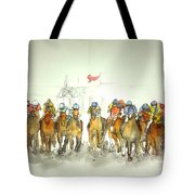 an American Pharoah born album Tote Bag