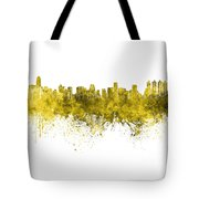 Bangkok Skyline In Watercolor Background Tote Bag