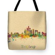 Beijing China Skyline Tote Bag