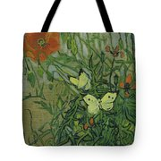 Butterflies And Poppies Tote Bag