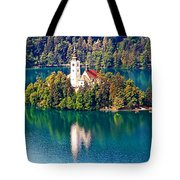 Church Of The Assumption - Lake Bled, Slovenia Tote Bag
