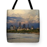 Cleveland Skyline From A Distant Park Tote Bag