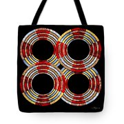 6 Concentric Rings X 4 Tote Bag