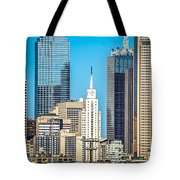 Dallas Texas City Skyline At Daytime Tote Bag