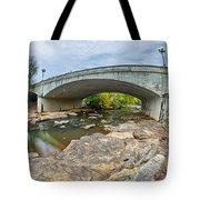 Downtown Of Greenville South Carolina Around Falls Park Tote Bag