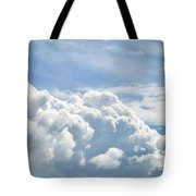Dramatic Cumulus Clouds With High Level Cirrocumulus Clouds For  Tote Bag