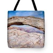 famous Mesa Arch in Canyonlands National Park Utah  USA Tote Bag