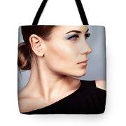 Fashion Woman Portrait Tote Bag