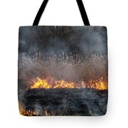 Fires Sunset Landscape Tote Bag