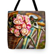Flower Bike Collection Tote Bag