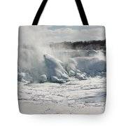 Frozen Niagara Falls Tote Bag