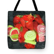 Fruits With Candys Tote Bag