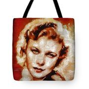 Ginger Rogers Hollywood Actress And Dancer Tote Bag