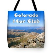 Hikers And Scenery On Mount Yale Colorado Tote Bag