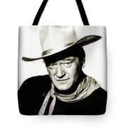 John Wayne, Vintage Actor By Js Tote Bag