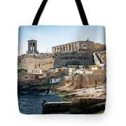 La Valletta Old Town Fortifications Architecture Scenic View In  Tote Bag