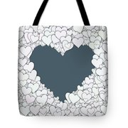 Love Heart Valentine Shape Tote Bag