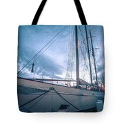 Newport Rhode Island Harbor With Tall Ships At Sunset Tote Bag