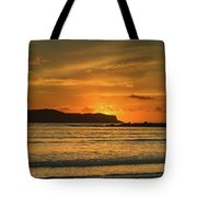 Orange Sunrise Seascape Tote Bag