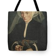 Portrait Of A Lady Holding A Rosary Tote Bag