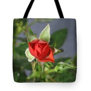 Red Rose Blooming Tote Bag