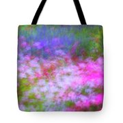 Summer Impression Series Panorama - Flowers Tote Bag by Ranjay Mitra