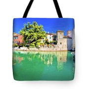 Town Of Sirmione Entrance Walls View Tote Bag